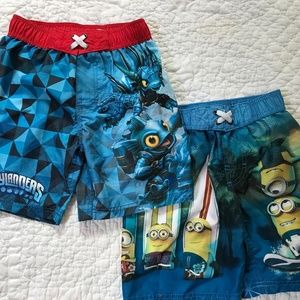 Other - Minions & Skylanders Swim Trunks (2 pair)